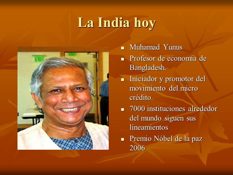 La India hoy Muhamad Yunus Profesor de economía de Bangladesh.