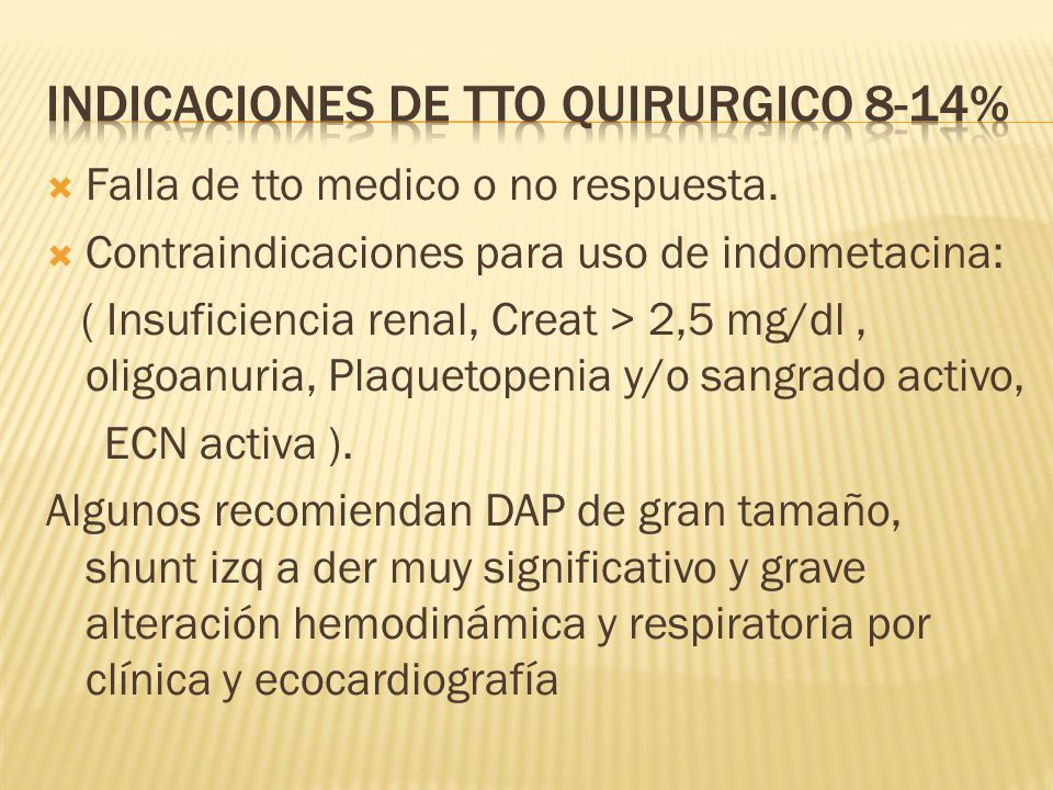Indicaciones de tto quirurgico 8-14%