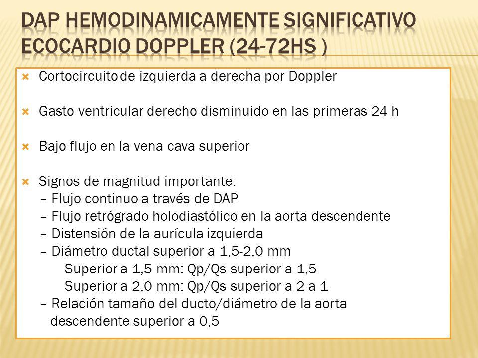 Dap hemodinamicamente significativo ecocardio doppler (24-72HS )