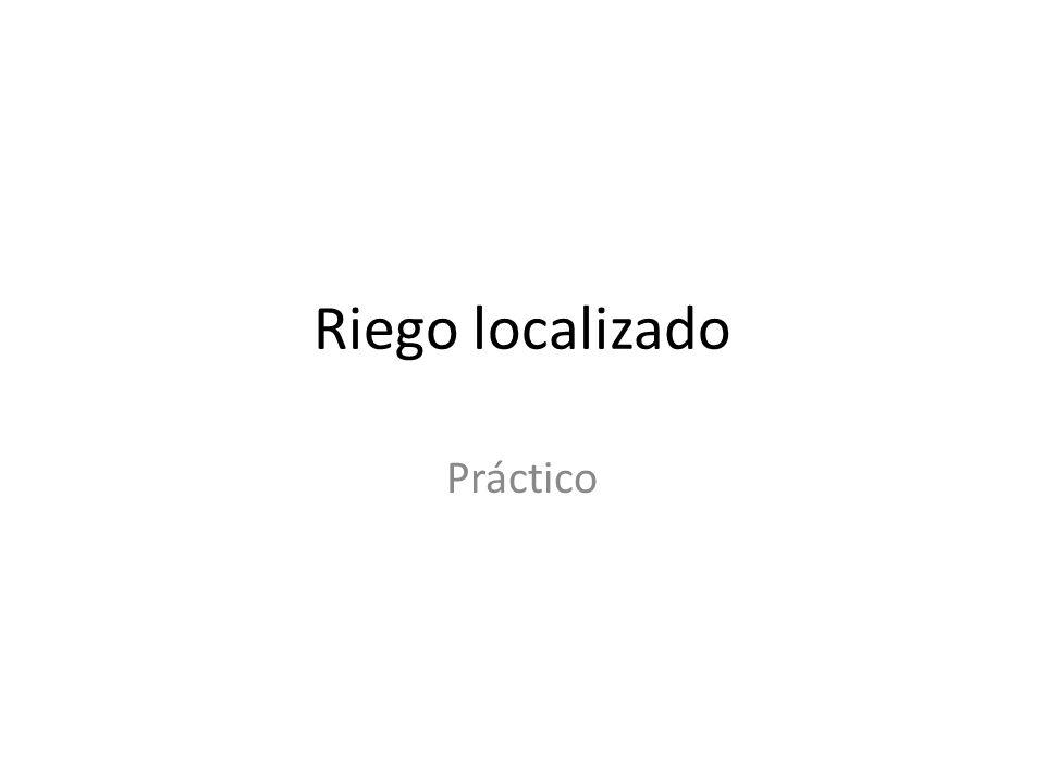Riego localizado Práctico