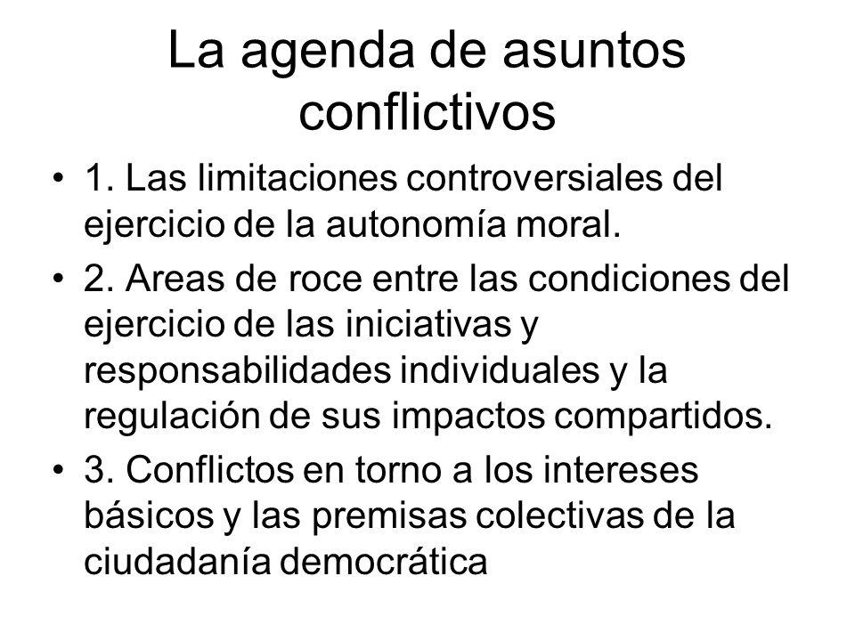 La agenda de asuntos conflictivos
