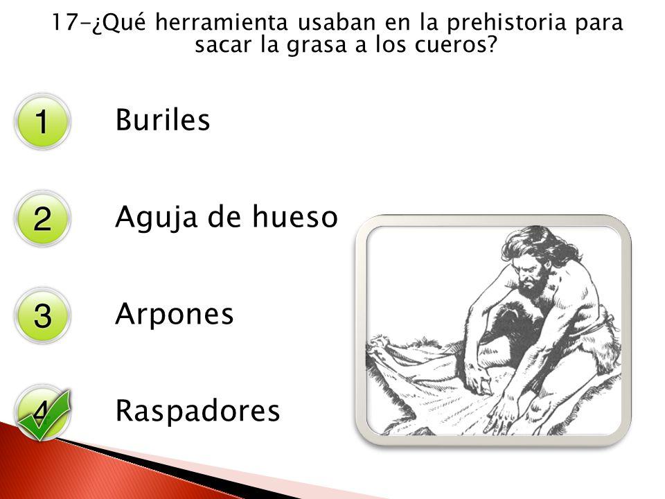 Buriles Aguja de hueso Arpones Raspadores