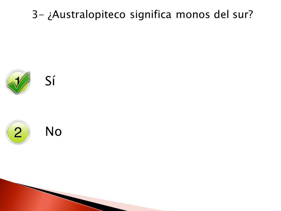 3- ¿Australopiteco significa monos del sur