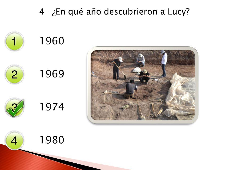 4- ¿En qué año descubrieron a Lucy