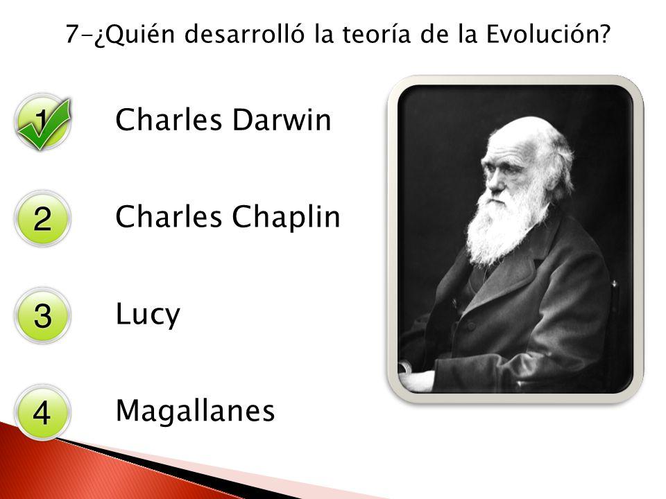 7-¿Quién desarrolló la teoría de la Evolución