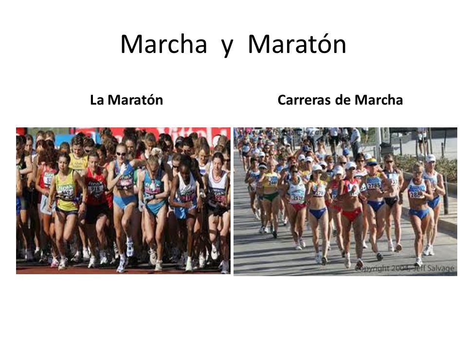 Marcha y Maratón La Maratón Carreras de Marcha