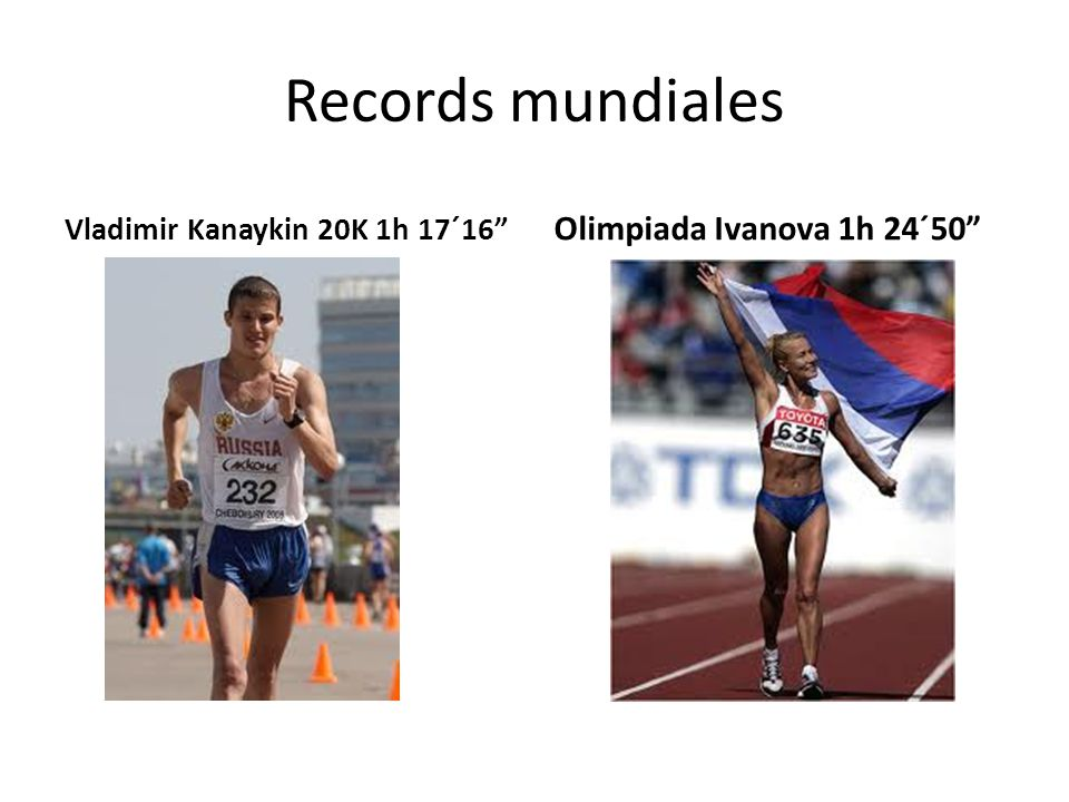 Records mundiales Olimpiada Ivanova 1h 24´50
