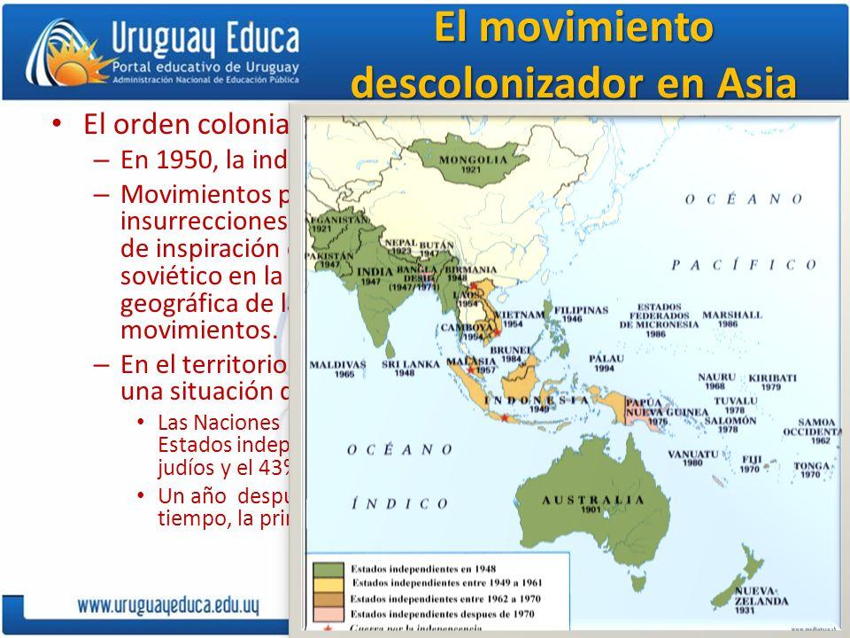 El movimiento descolonizador en Asia