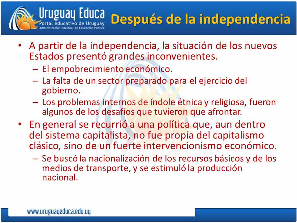 Después de la independencia
