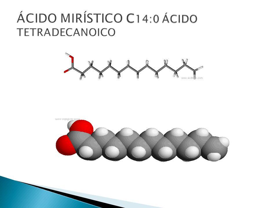 ÁCIDO MIRÍSTICO C14:0 ÁCIDO TETRADECANOICO