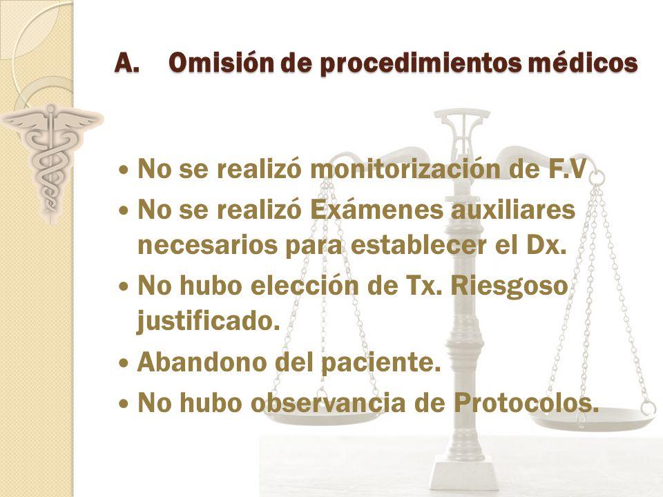 Omisión de procedimientos médicos