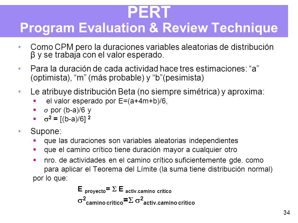 PERT Program Evaluation & Review Technique