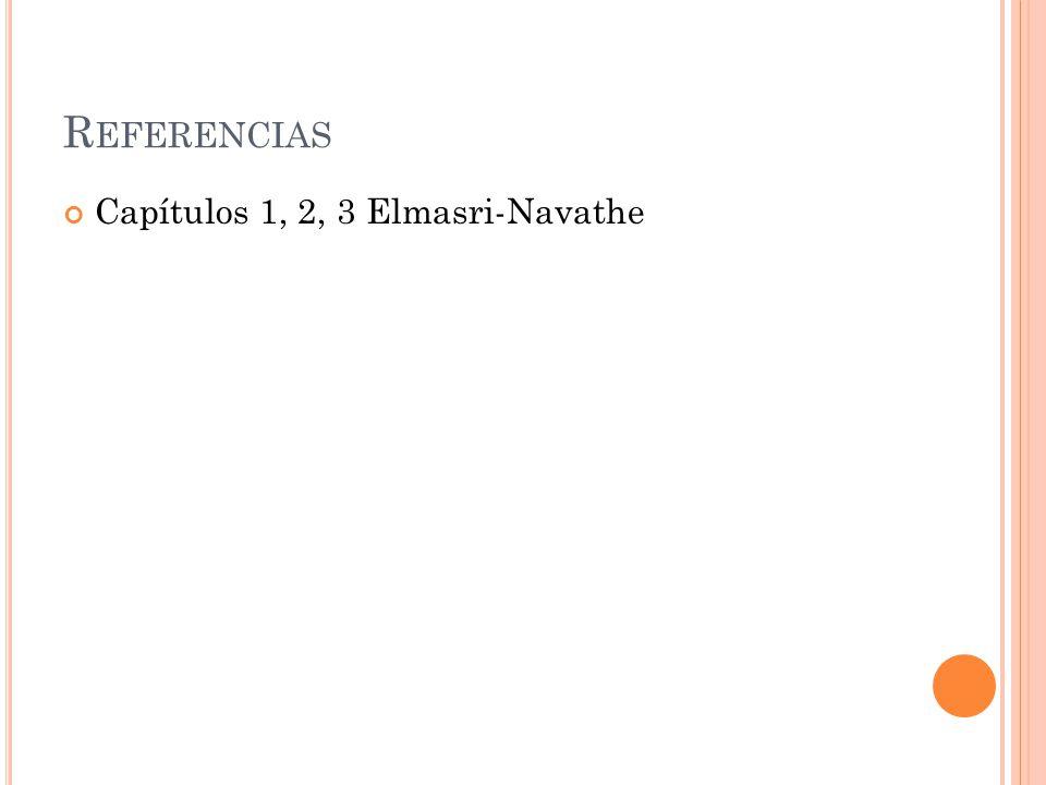 Referencias Capítulos 1, 2, 3 Elmasri-Navathe