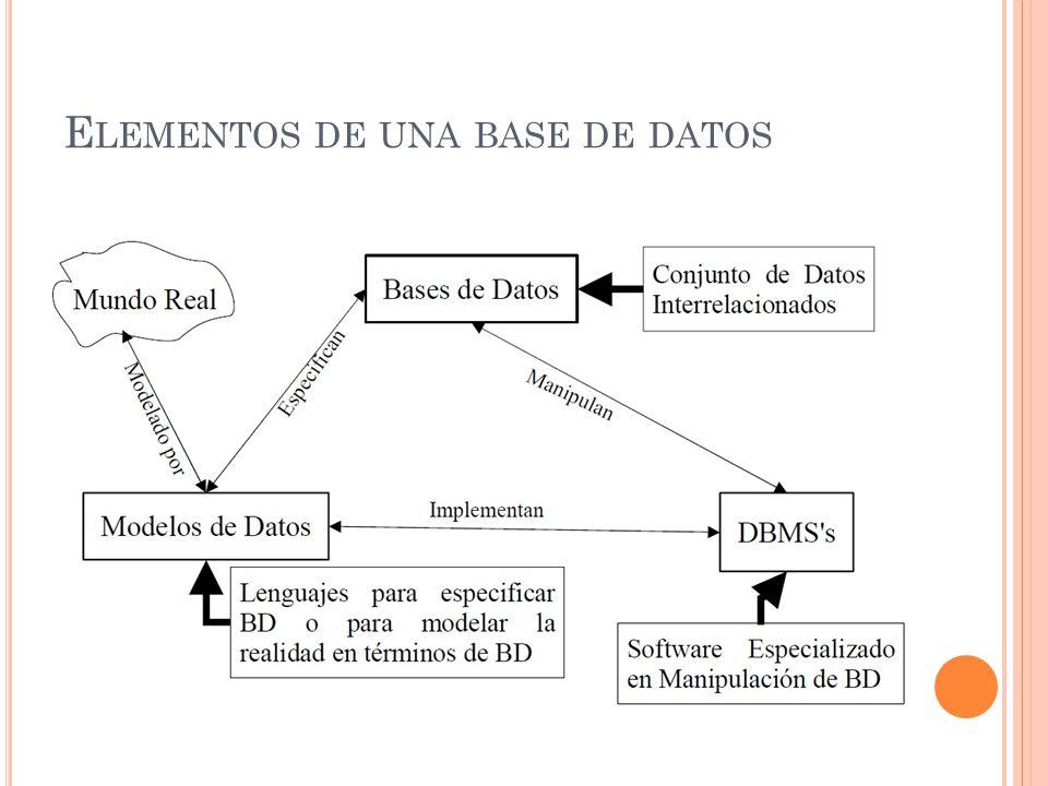 Elementos de una base de datos