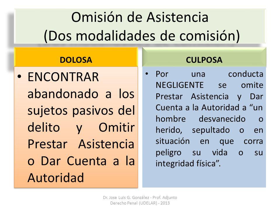 Omisión de Asistencia (Dos modalidades de comisión)