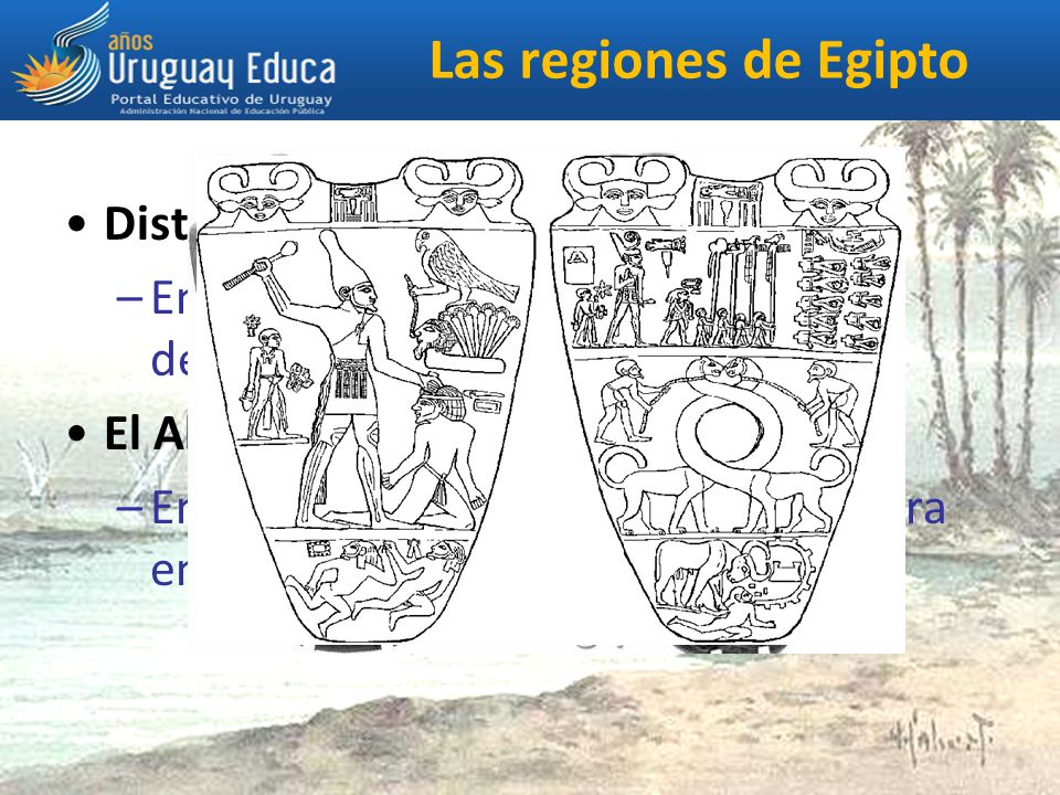Las regiones de Egipto Distinguimos entre el Bajo Egipto: