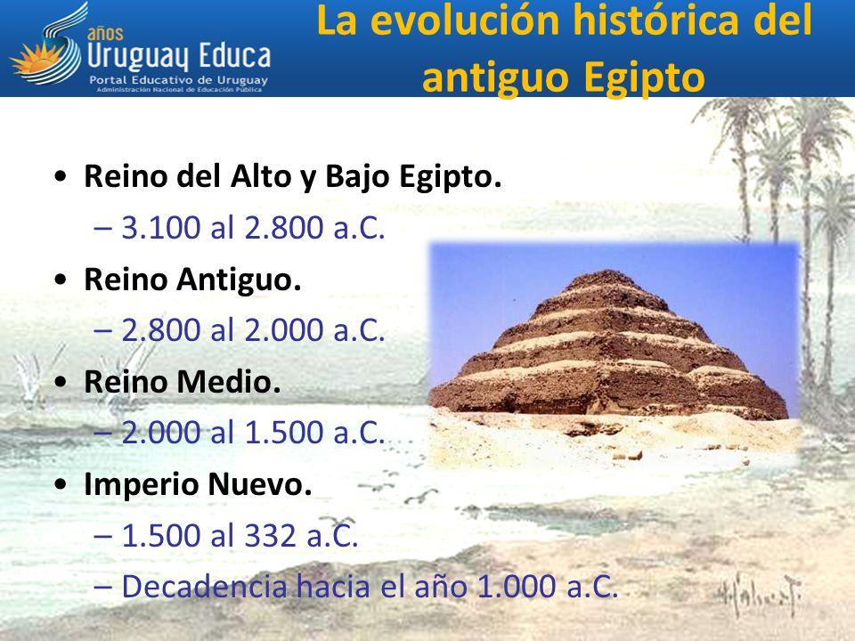 La evolución histórica del antiguo Egipto