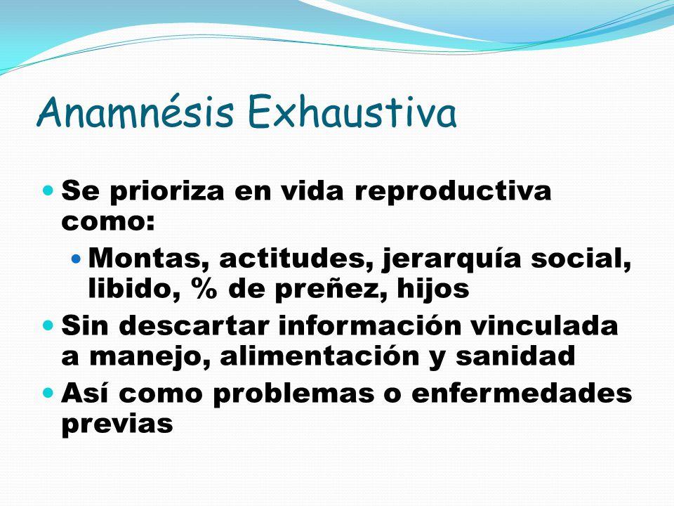 Anamnésis Exhaustiva Se prioriza en vida reproductiva como: