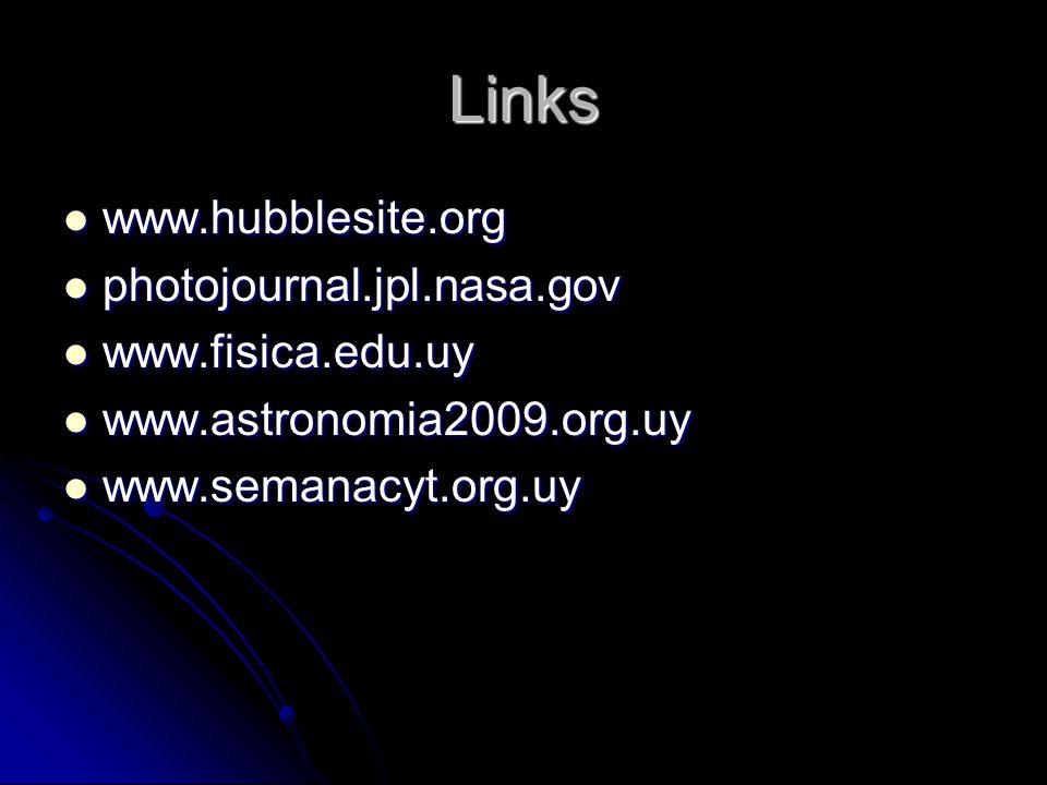 Links www.hubblesite.org photojournal.jpl.nasa.gov www.fisica.edu.uy
