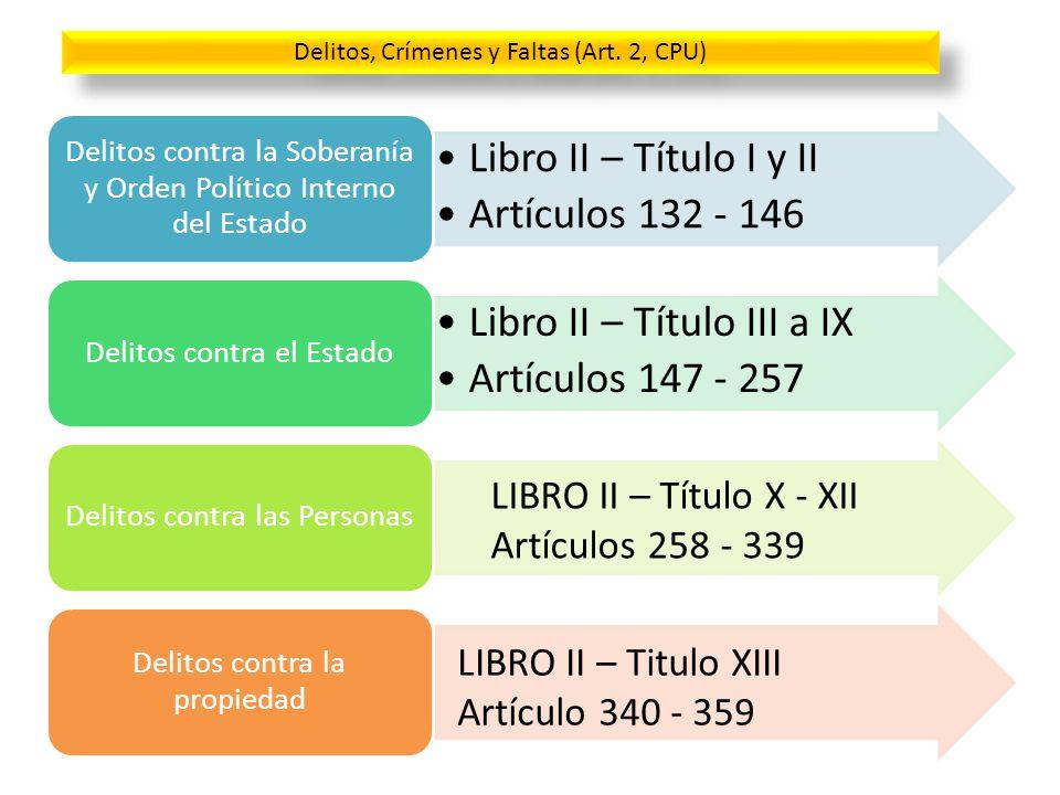 Libro II – Título III a IX Artículos 147 - 257