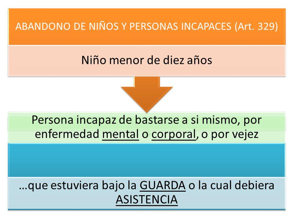 ABANDONO DE NIÑOS Y PERSONAS INCAPACES (Art. 329)