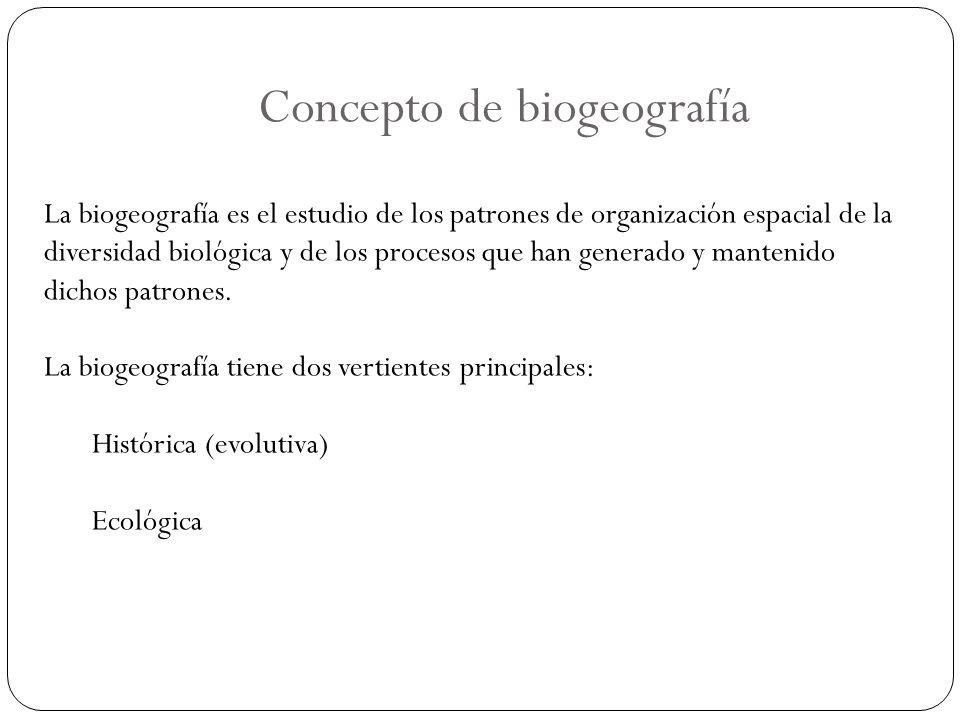 Concepto de biogeografía