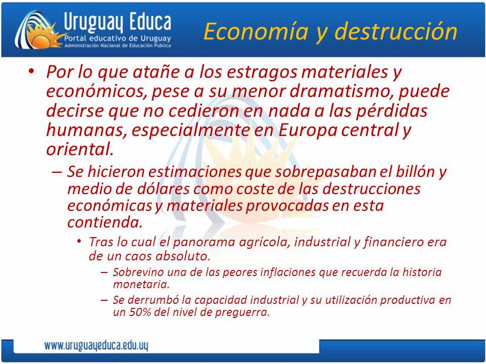 Economía y destrucción