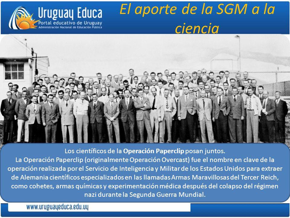 El aporte de la SGM a la ciencia