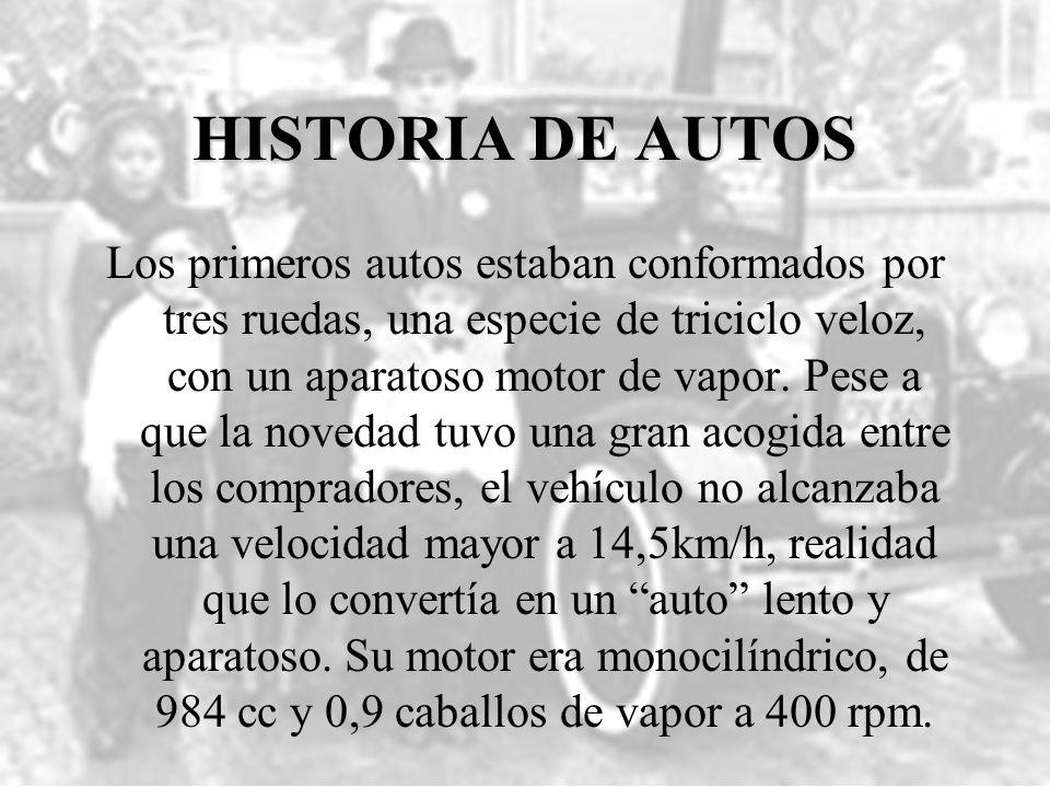 HISTORIA DE AUTOS