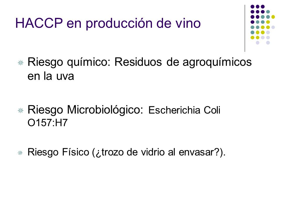 HACCP en producción de vino