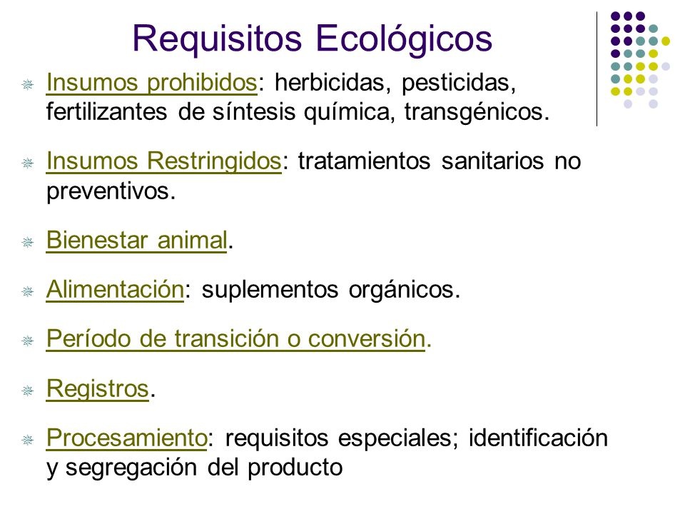 Requisitos Ecológicos