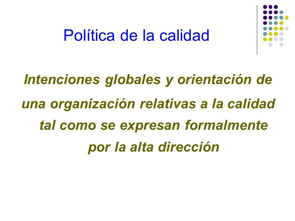 Intenciones globales y orientación de