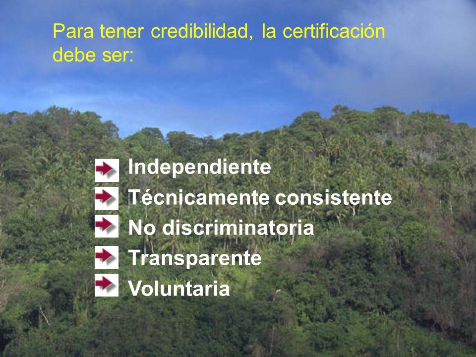 Técnicamente consistente No discriminatoria Transparente Voluntaria