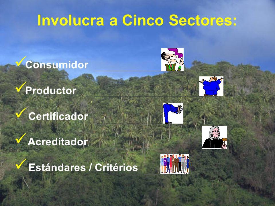 Involucra a Cinco Sectores: