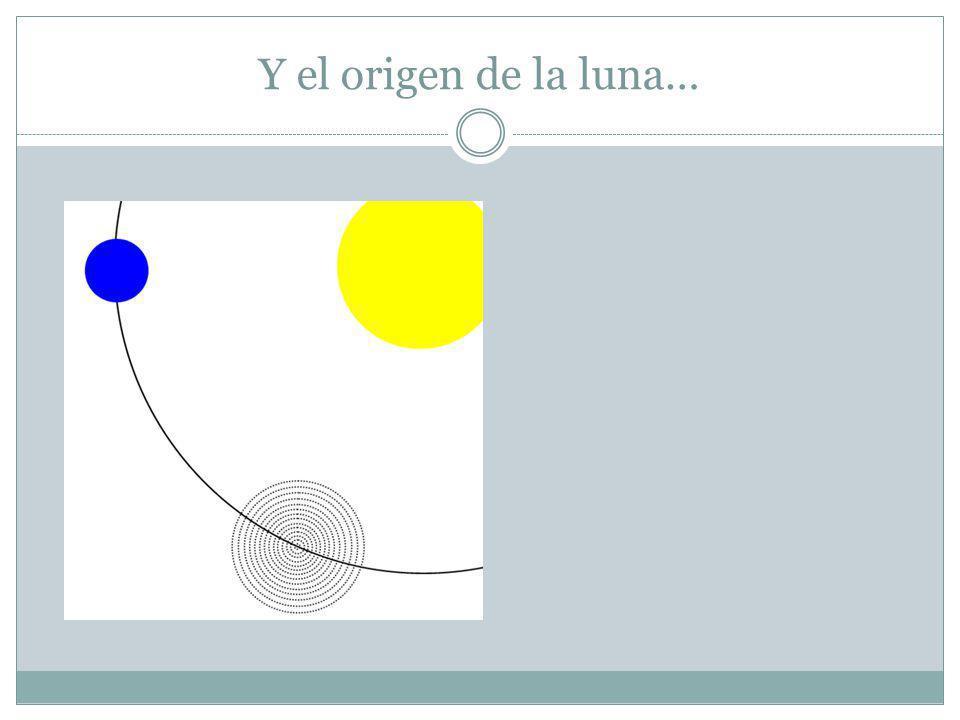 Y el origen de la luna…
