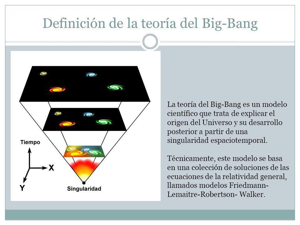 Definición de la teoría del Big-Bang