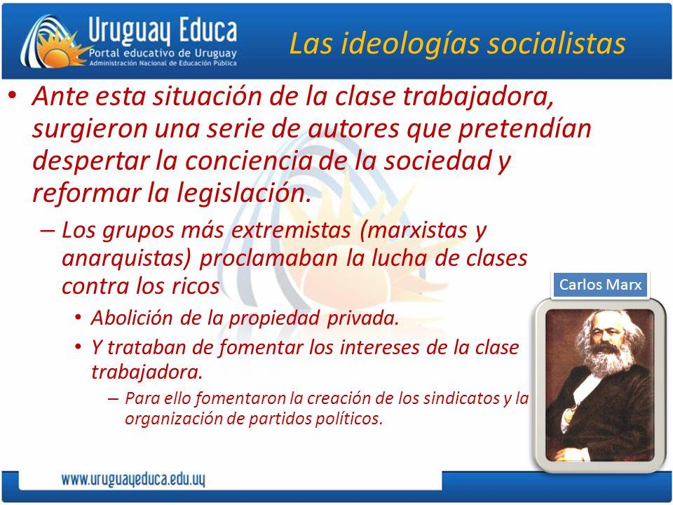 Las ideologías socialistas