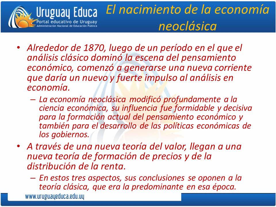 El nacimiento de la economía neoclásica