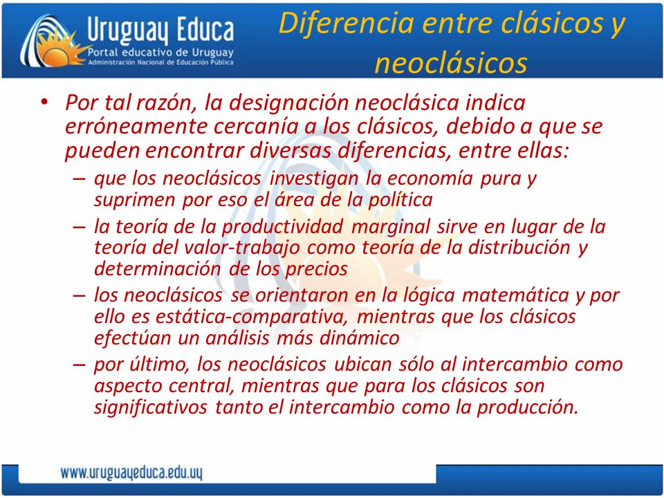 Diferencia entre clásicos y neoclásicos