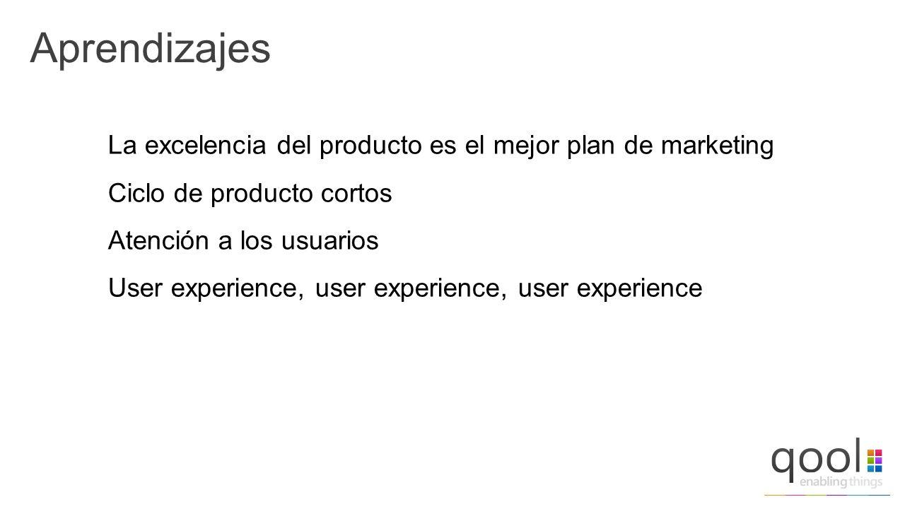 Aprendizajes La excelencia del producto es el mejor plan de marketing