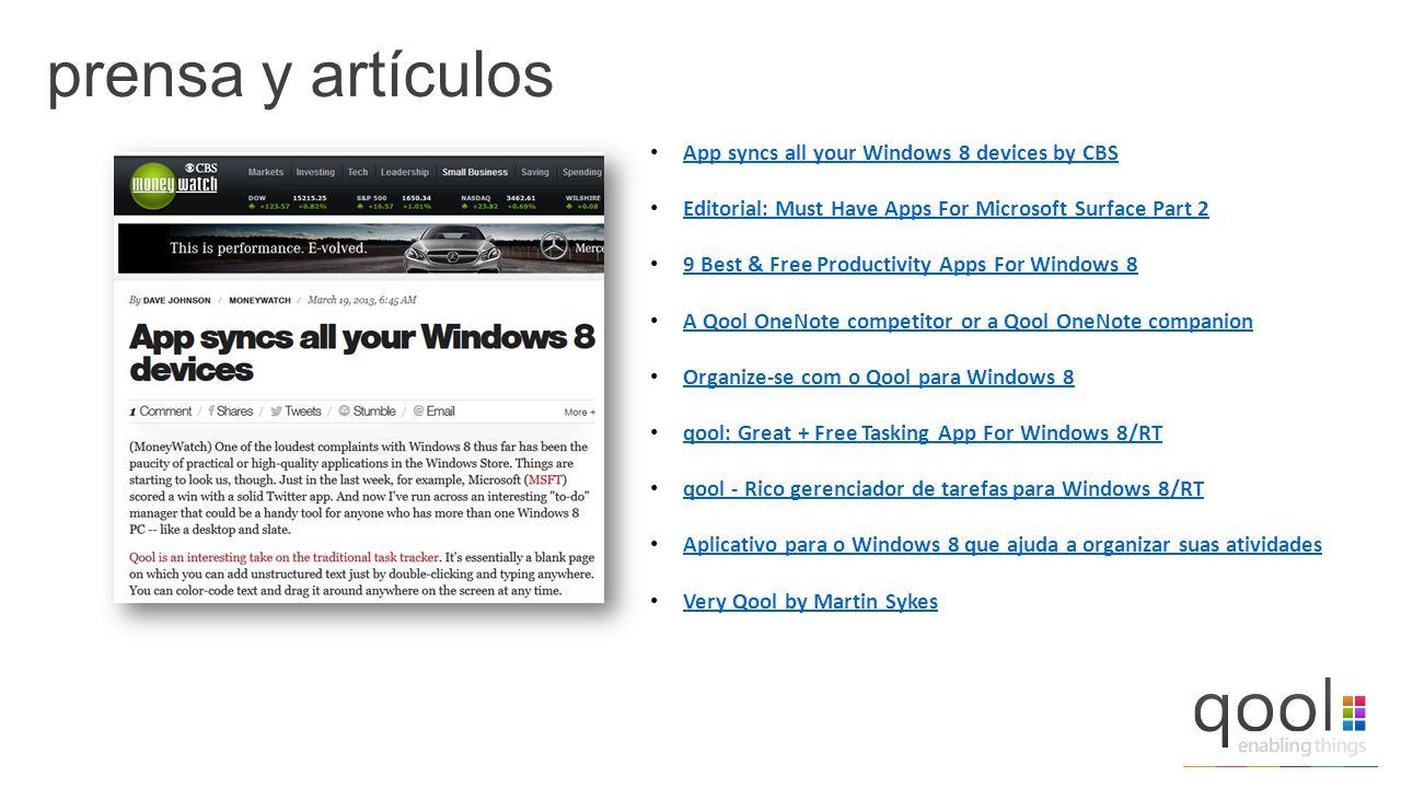 prensa y artículos App syncs all your Windows 8 devices by CBS