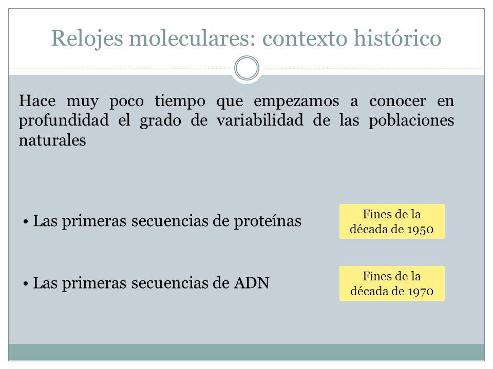 Relojes moleculares: contexto histórico