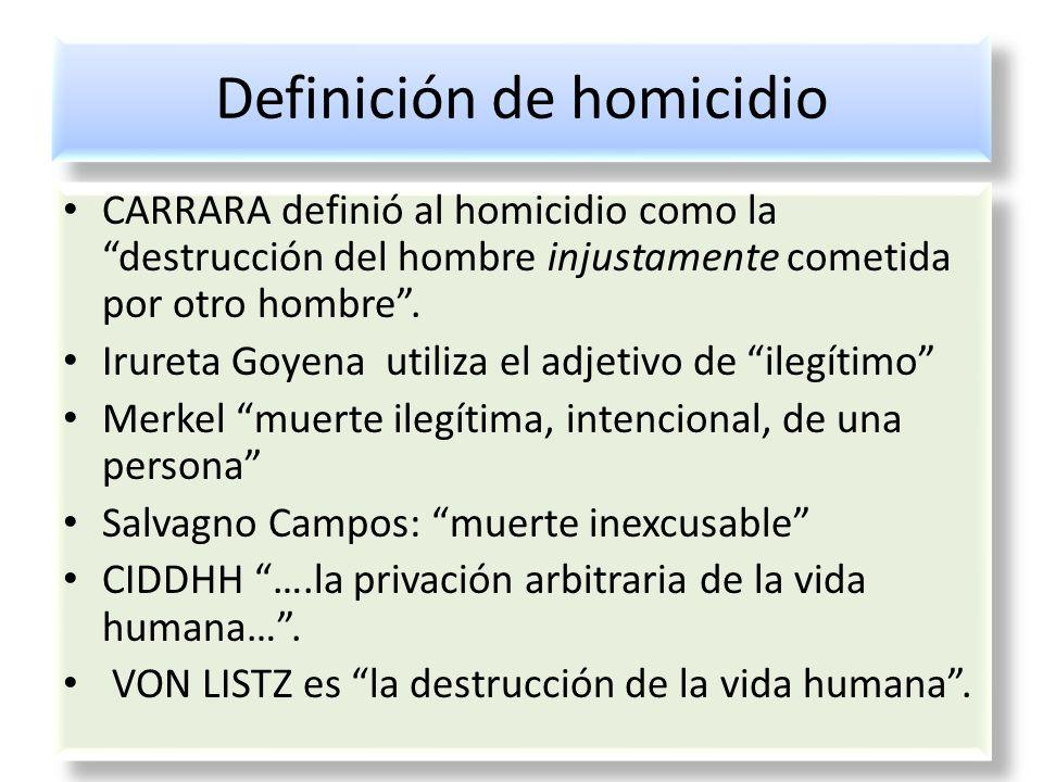 Definición de homicidio