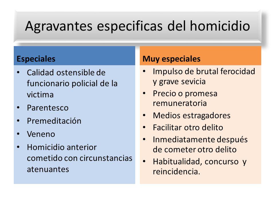 Agravantes especificas del homicidio