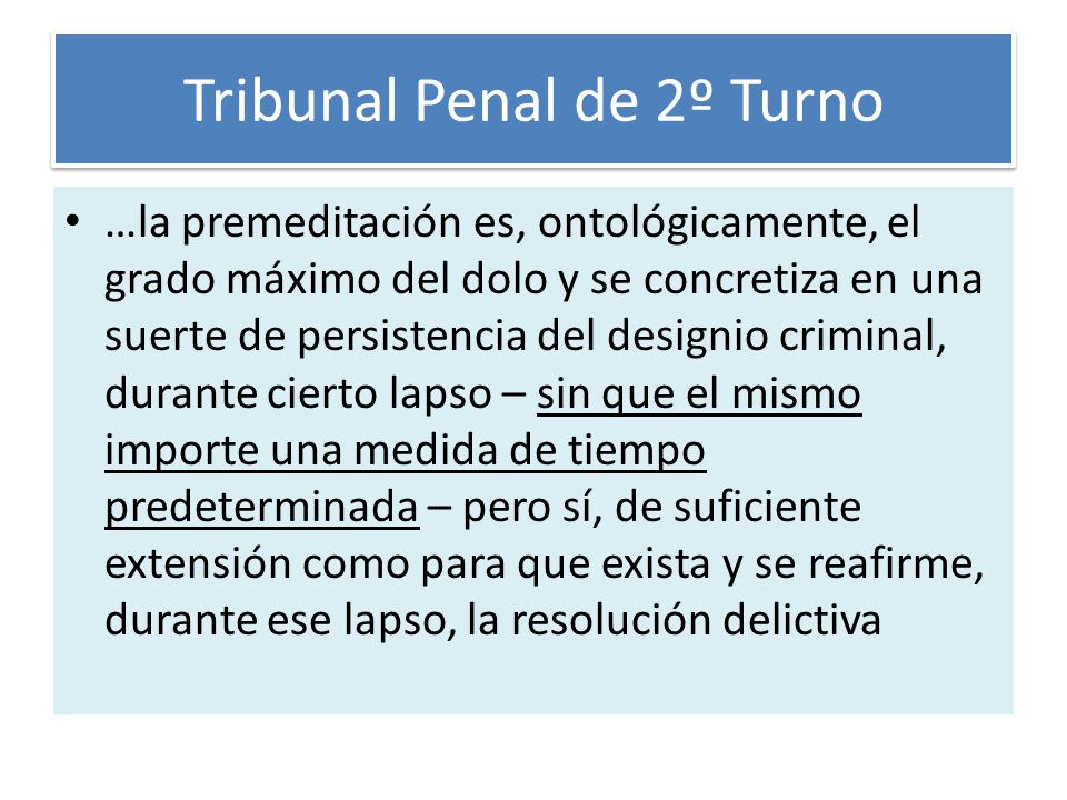 Tribunal Penal de 2º Turno