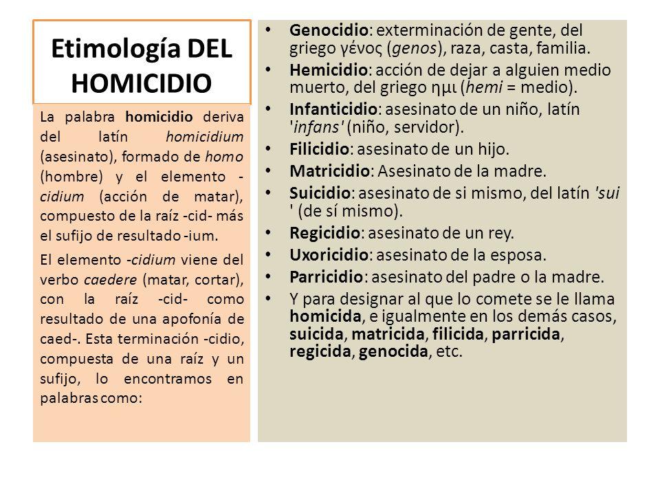 Etimología DEL HOMICIDIO