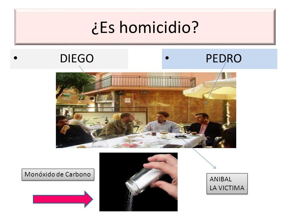 ¿Es homicidio DIEGO PEDRO Monóxido de Carbono ANIBAL LA VICTIMA