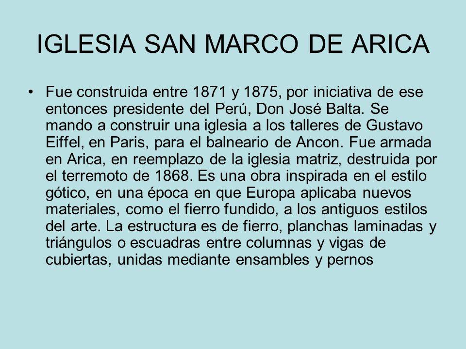 IGLESIA SAN MARCO DE ARICA