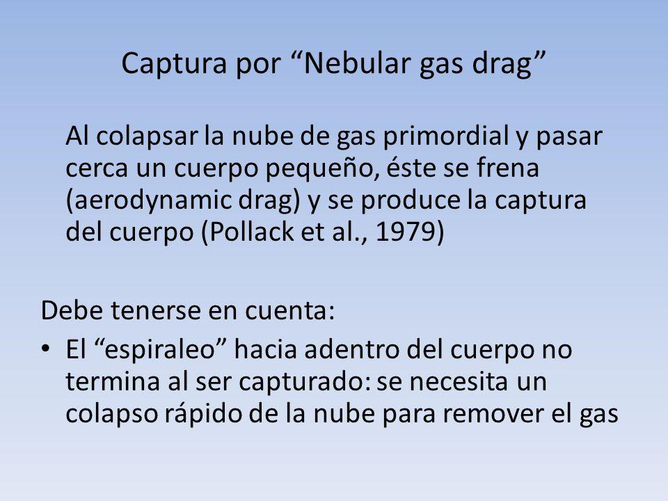 Captura por Nebular gas drag