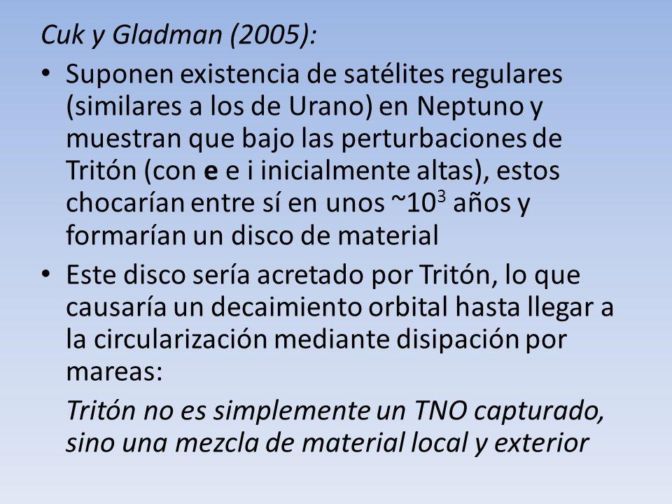 Cuk y Gladman (2005):